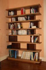 Bibliothèque métal et bois