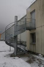 Escalier en acier galvanisé