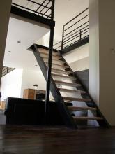 Mezzanine en acier et bois