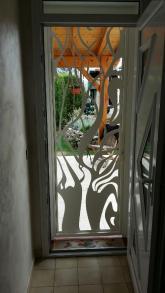 Porte en acier découpé, métallerie d'art (1)
