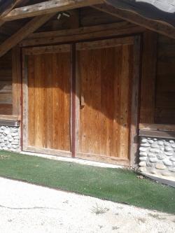 Porte blindée bardée