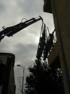 Installation d'une verrière