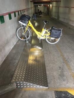 Rampe à vélos