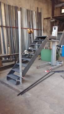 Fabrication escalier en atelier
