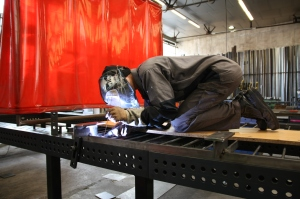 Fabrication garde-corps en atelier